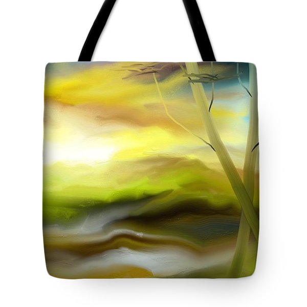 Tote Bag featuring the painting Couple by Rushan Ruzaick