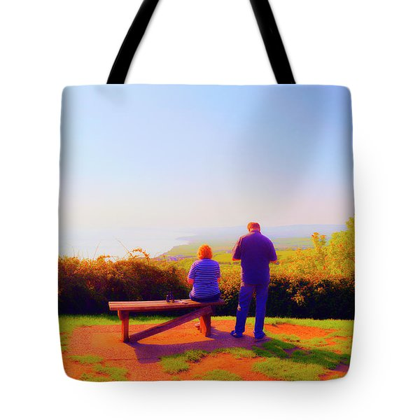 Couple Views Tote Bag