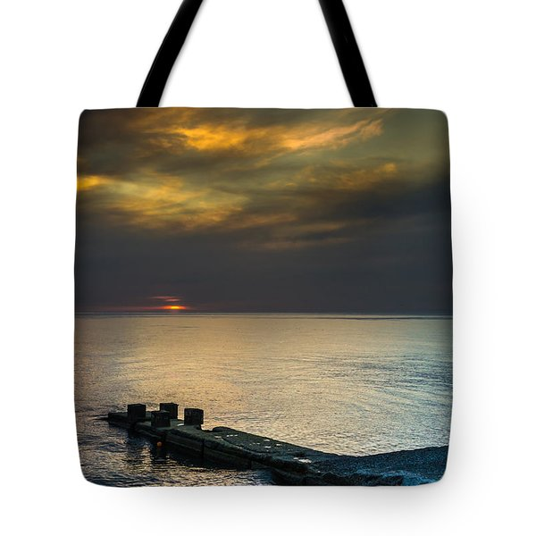 Tote Bag featuring the photograph Couple Watching Sunset by John Williams