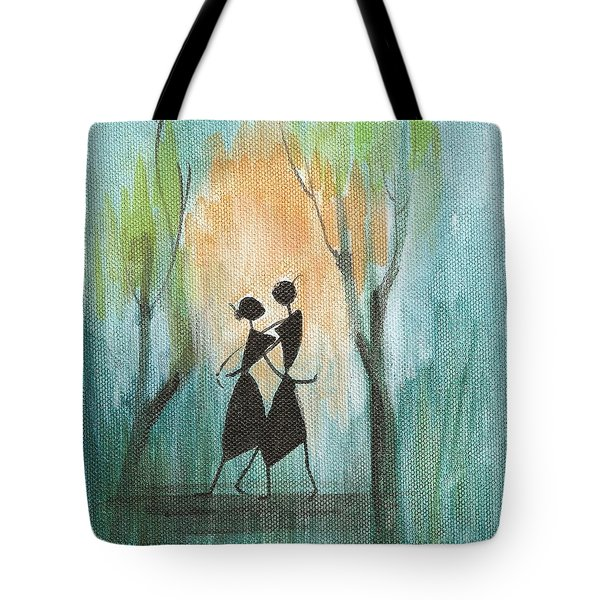 Couples Delight Tote Bag by Chintaman Rudra