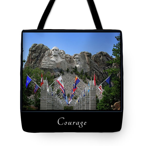 Tote Bag featuring the photograph Courage 1 by Mary Jo Allen