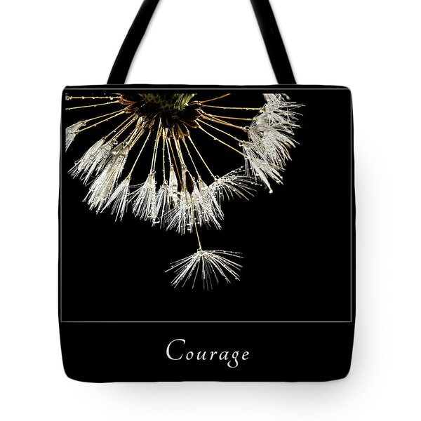 Tote Bag featuring the photograph Courage 3 by Mary Jo Allen