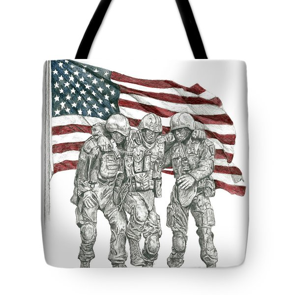 Courage In Brotherhood Tote Bag