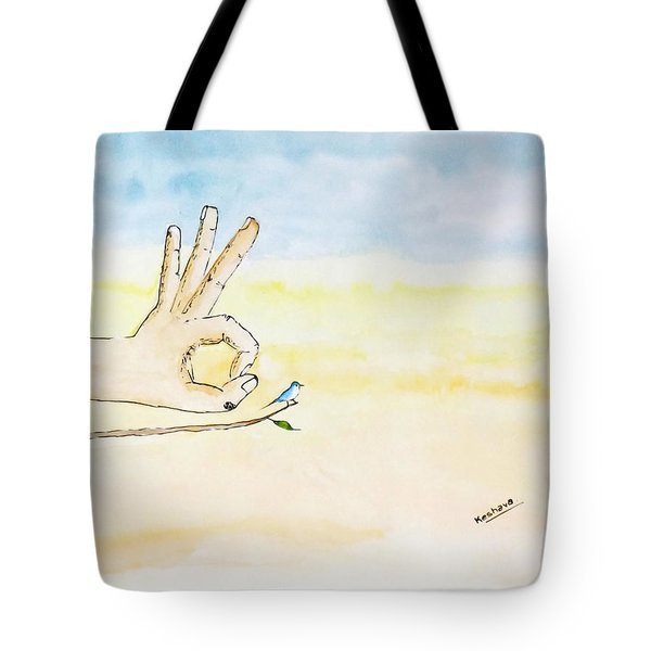 Courage Tote Bag by Keshava Shukla