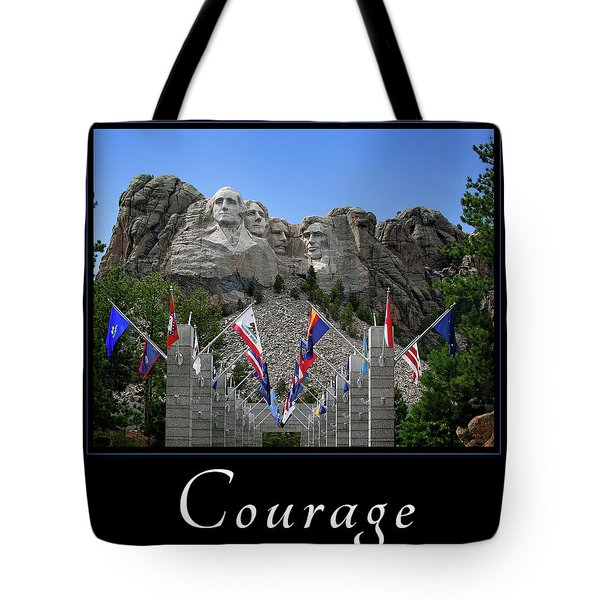 Tote Bag featuring the photograph Courage by Mary Jo Allen