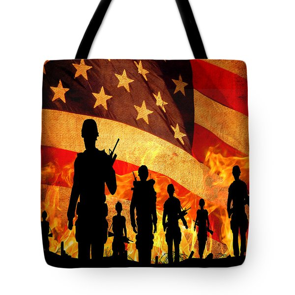 Courage Under Fire Tote Bag