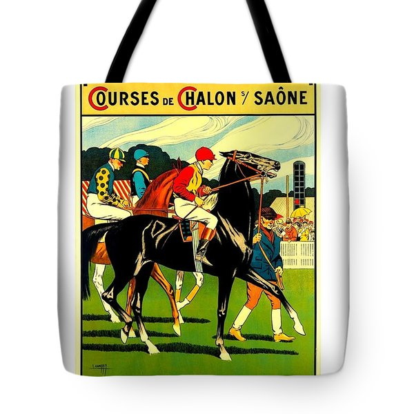 Courses De Chalon French Horse Racing 1911 II Tote Bag