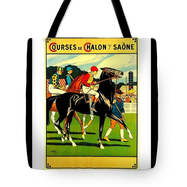 Courses De Chalon French Horse Racing 1911 II Leon Gambey Tote Bag