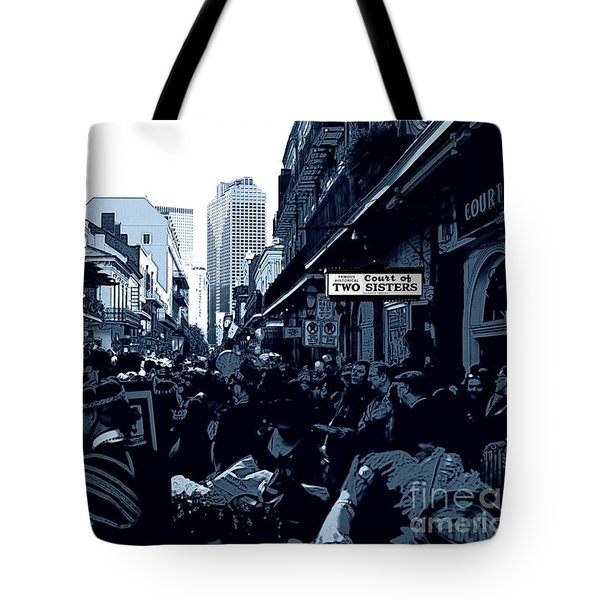 Court Of Two Sisters Digital Art Tote Bag by John Rizzuto