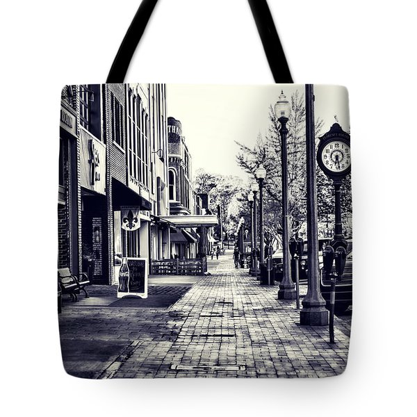 Court Street Clock Florence Alabama Tote Bag