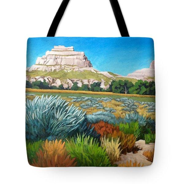 Courthouse And Jail Rocks Acrylic Tote Bag