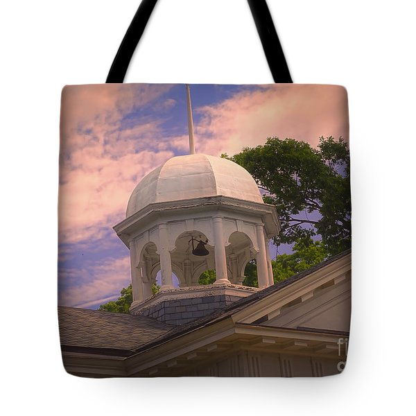 Tote Bag featuring the photograph Courthouse Bell Tower by Melissa Messick