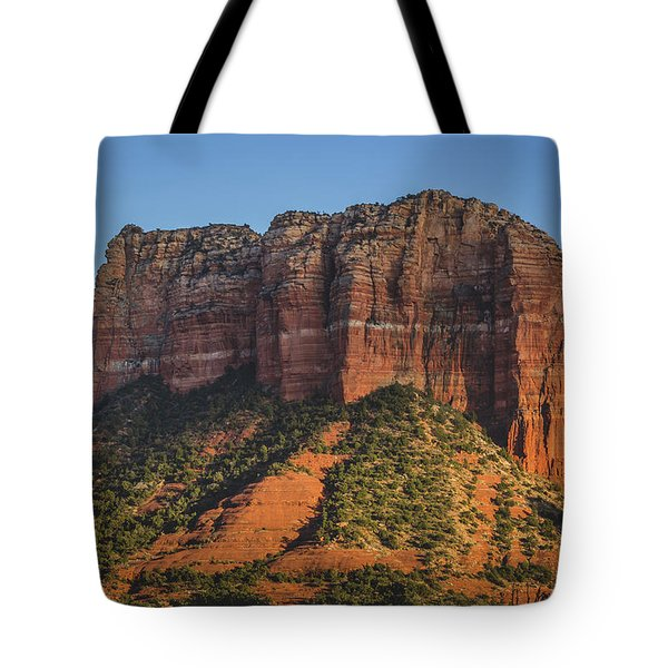 Courthouse Butte At Sunset Tote Bag