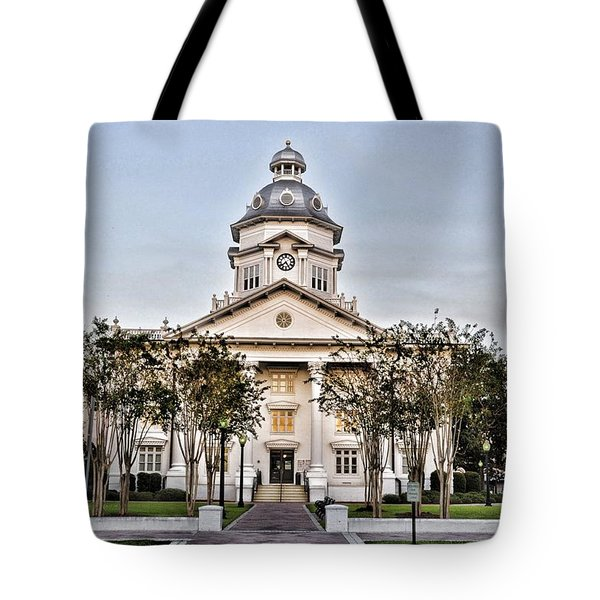 Courthouse In Moultrie Tote Bag by Jan Amiss Photography