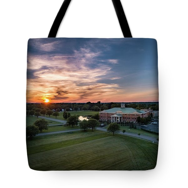 Courthouse Sunset Tote Bag