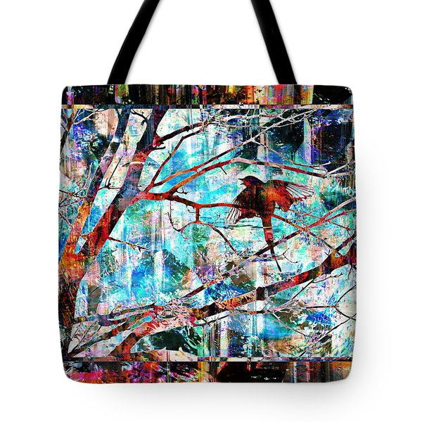 Tote Bag featuring the photograph Courting Bird by Dutch Bieber