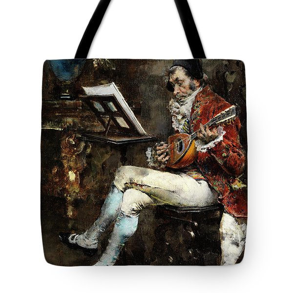 Courtly Madolin Players In Salon Tote Bag