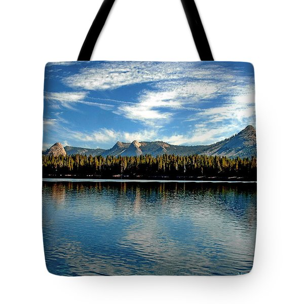 Tote Bag featuring the digital art Courtright Reservoir by Visual Artist Frank Bonilla