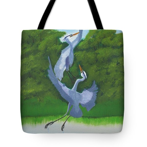Courtship Dance Tote Bag by Mike Robles