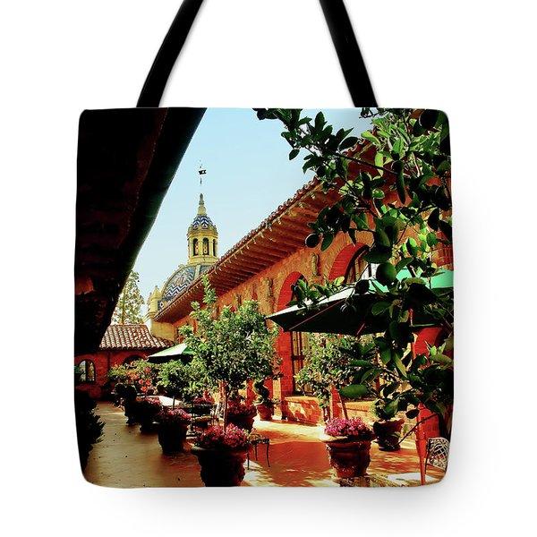 Courtyard At The Inn Tote Bag