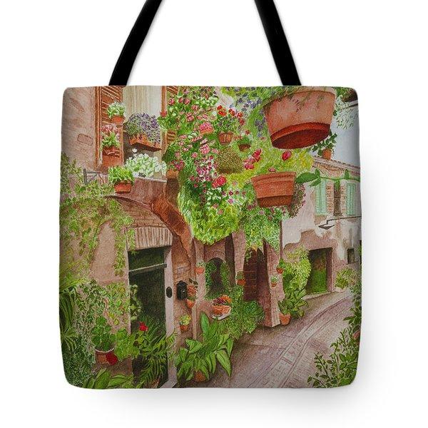 Courtyard Tote Bag by C Wilton Simmons Jr