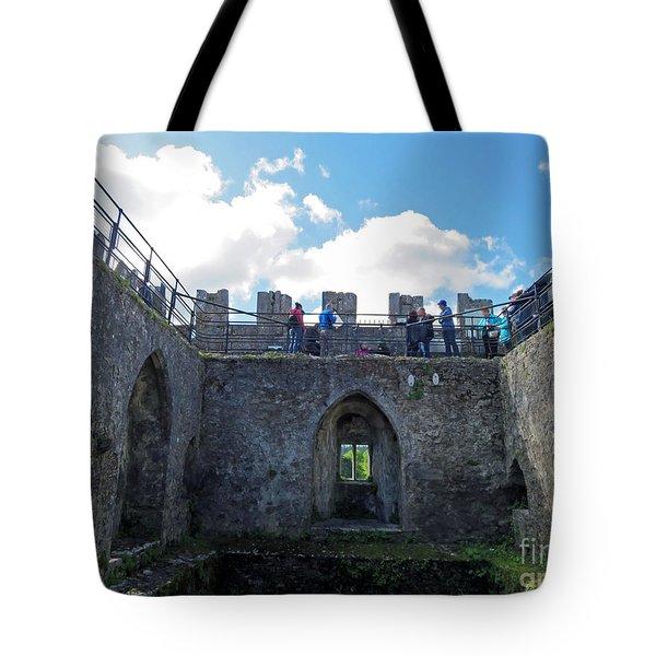Courtyard Of Blarney Castle Tote Bag