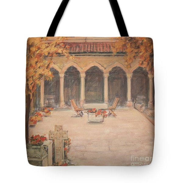 Courtyard Of Stravopoleos Church Tote Bag