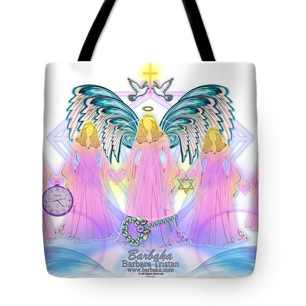 Tote Bag featuring the digital art Cousins by Barbara Tristan