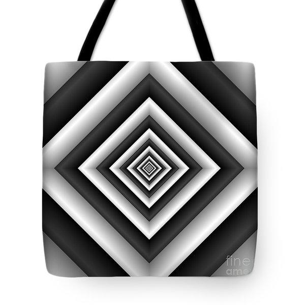 Covariance  6 Modern Geometric Black White Tote Bag