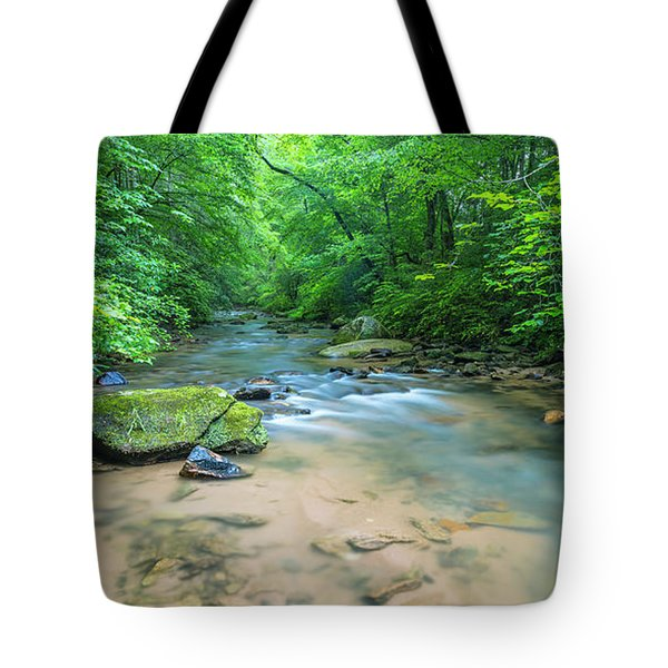 Tote Bag featuring the photograph Cove Creek Panorama by Ranjay Mitra