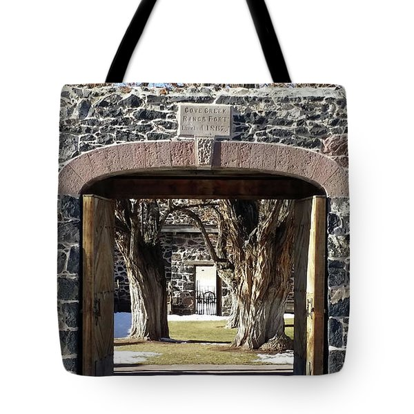 Tote Bag featuring the photograph Cove Fort, Utah by Cynthia Powell