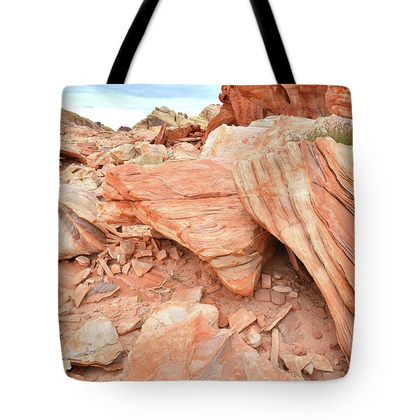 Tote Bag featuring the photograph Cove Of Sandstone Shapes In Valley Of Fire by Ray Mathis