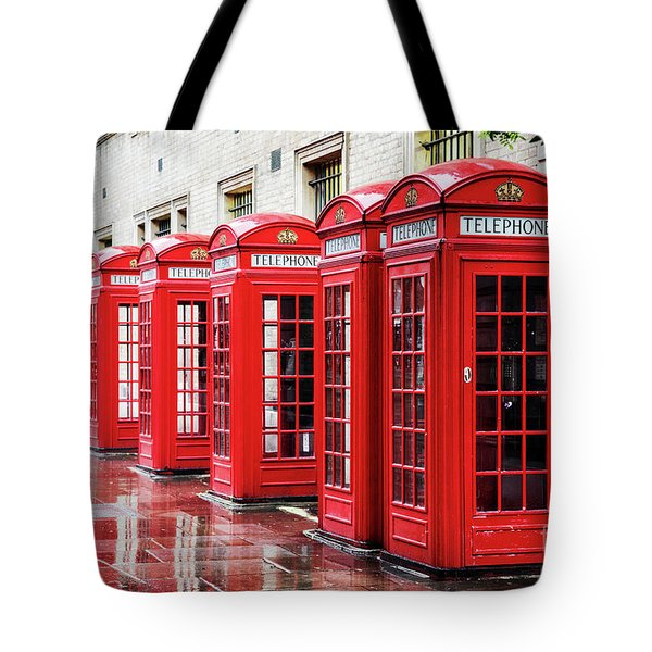 Covent Garden Phone Boxes Tote Bag