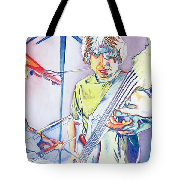 Tote Bag featuring the drawing Coventry Phish by Joshua Morton