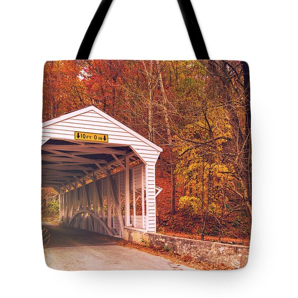 Covered Bridge At Valley Forge Tote Bag