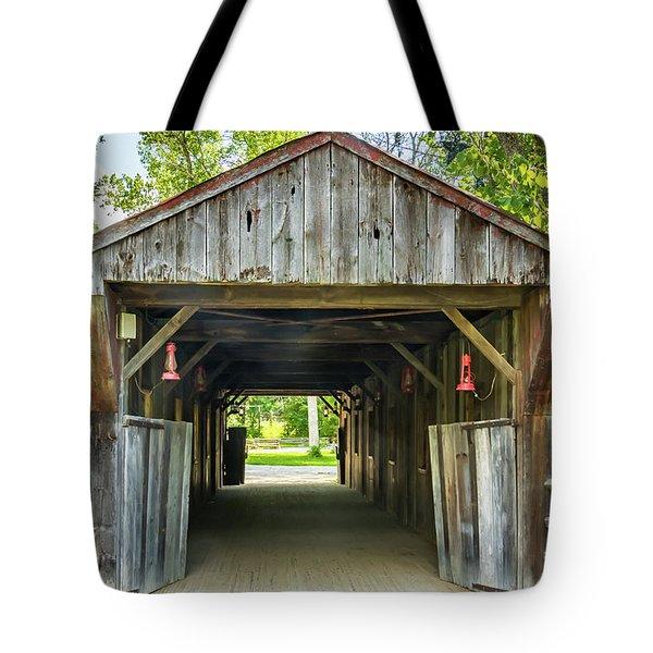 Covered Bridge Hdr Tote Bag