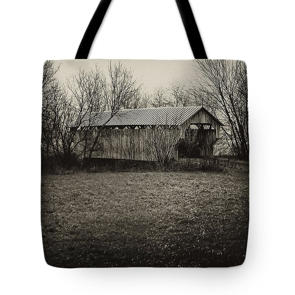 Covered Bridge In Upstate New York Tote Bag by Bill Cannon