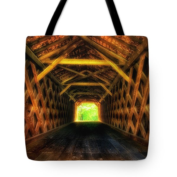 Covered Bridge Interior Tote Bag