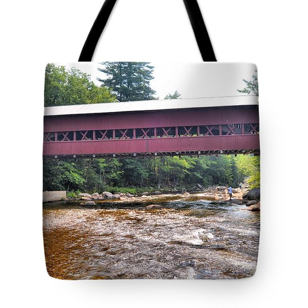 Covered Bridge Over The Swift River Tote Bag