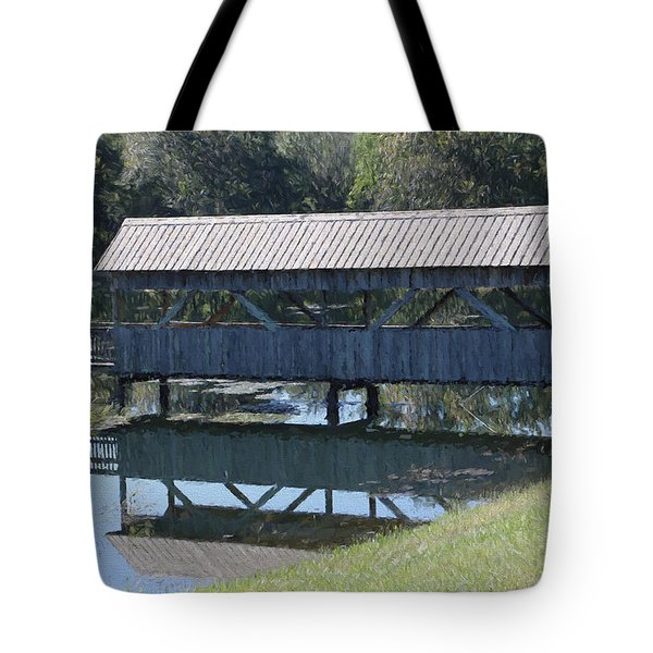 Covered Bridge Painting Tote Bag