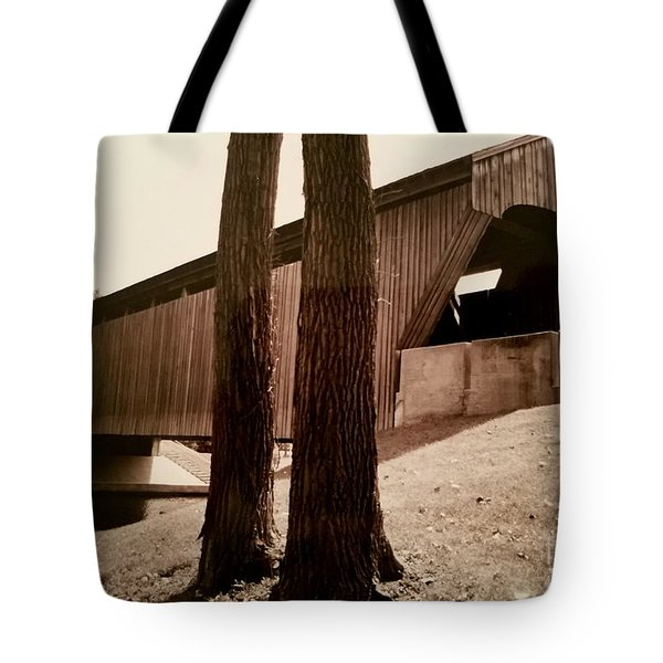 Covered Bridge Southern Indiana Tote Bag