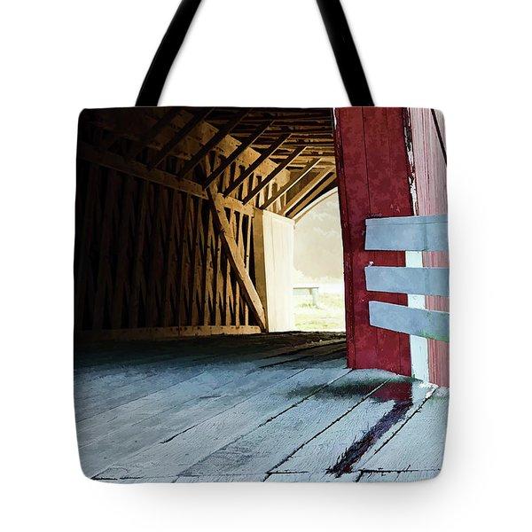 Covered Bridge, Winterset, Iowa Tote Bag by Wilma Birdwell