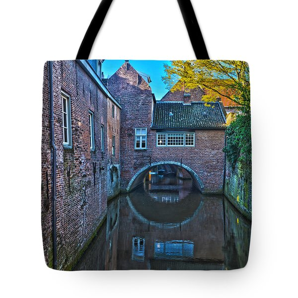 Covered Canal In Den Bosch Tote Bag by Frans Blok
