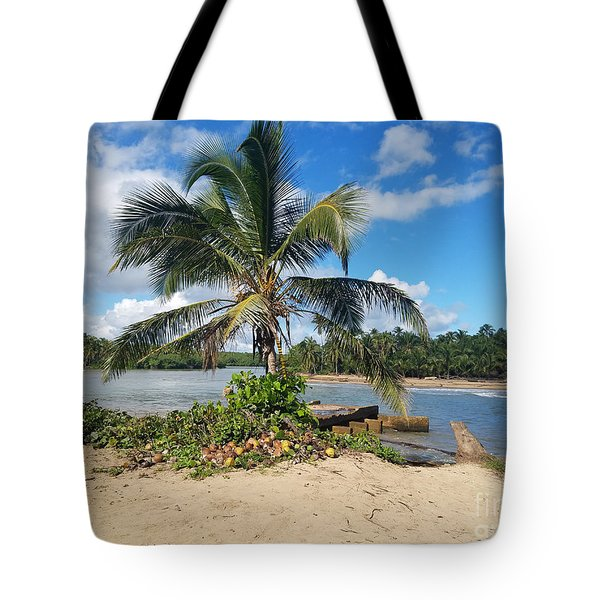 Covered Palm Beach Tote Bag
