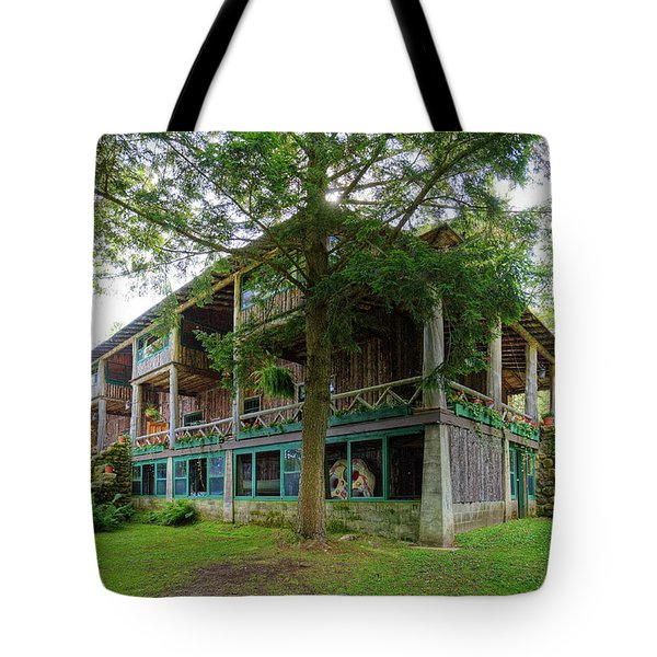Tote Bag featuring the photograph Covewood Lodge On Big Moose Lake by David Patterson