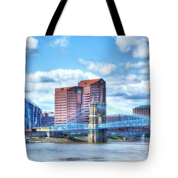 Covington Kentucky Skyline Tote Bag
