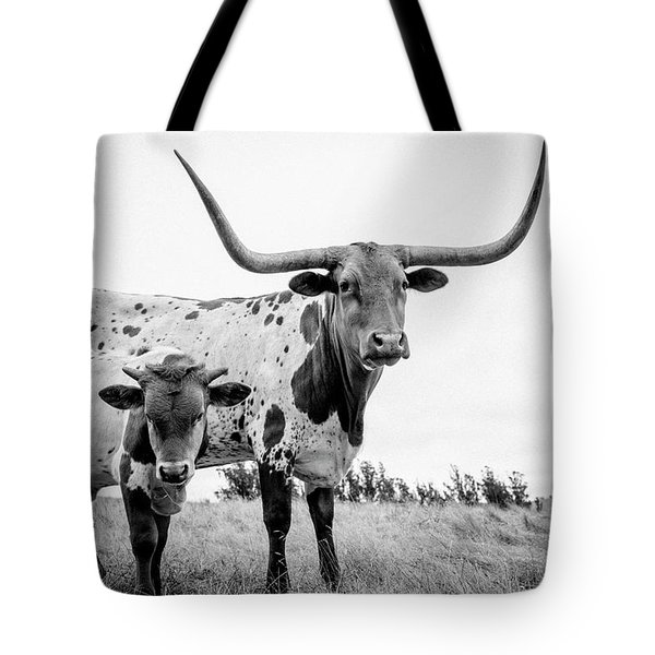 Cow And Calf In The Pasture Tote Bag