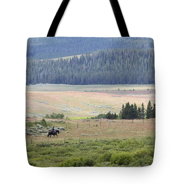 Cow Camp View Tote Bag