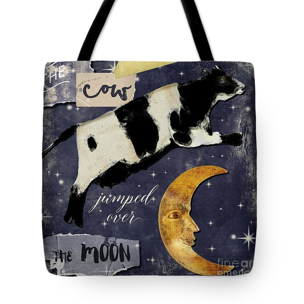Cow Jumped Over The Moon Tote Bag