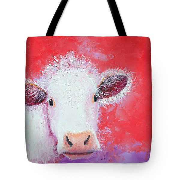 Cow Painting - Charolais Tote Bag